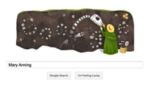 Marry Anning Google doodle