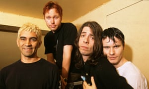 Photo of Foo Fighters (Photo by Mick Hutson/Redferns) Pat Smear, Nate Mendel, Dave Grohl
