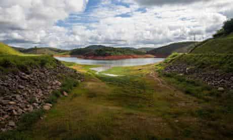 Jaguari Dam, one of the main reservoirs supplying Sao Paulo