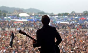 The view from the stage at Glastonbury