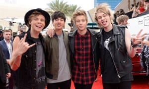 Recording artists Ashton Irwin, Calum Hood, Luke Hemmings and Michael Clifford of 5 Seconds of Summer