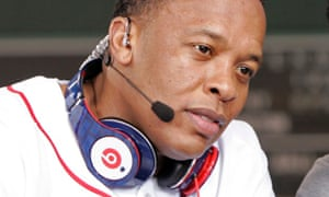 Dr. Dre wearing Beats headphones