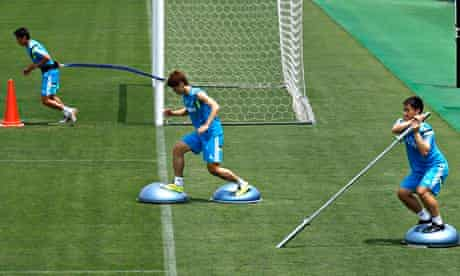 Japanese football training