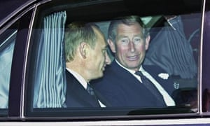 Prince Charles (right) pictured with the Russian president Vladimir Putin