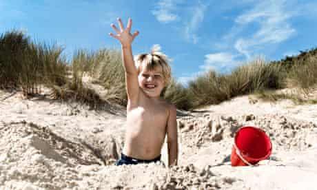 child beach memories