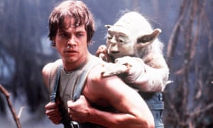 Luke Skywalker (Mark Hamill) furthers his Jedi training with Yoda in Star Wars: Episode V - The Empire Strikes Back.
