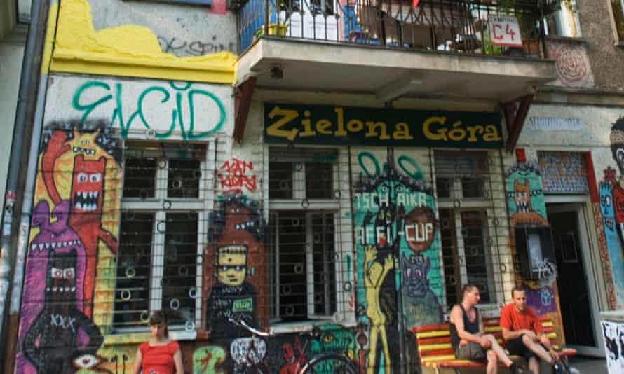 Graffiti on building in Friedrichshain in Berlin