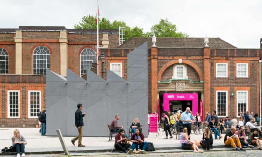 Temple of making … Studio Weave's Smith pavilion celebrates ancient London trades.