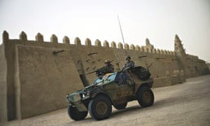 French soldiers on patrol in Timbuktu