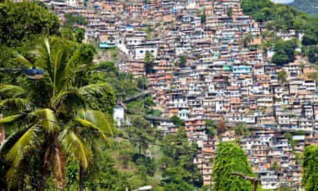 Favelas or slums in Rio de Janeiro, Brazil