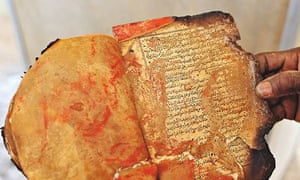 A damaged manuscript at the Ahmed Baba Institute