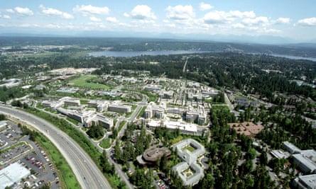 The Microsoft compound in Seattle, Washington.