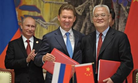 Russia Signs 30 Year Deal Worth 400bn To Deliver Gas To China Russia The Guardian