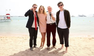 Caleb Landry Jones, Callum Turner, John Boorman and Tamsin Egerton attend the Queen & Country photocall.