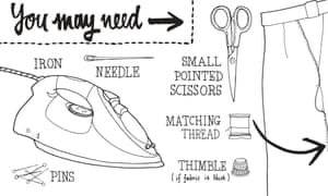 how to mend a ripped seam: things you will need