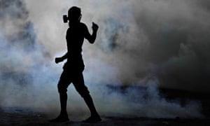A Bahraini anti-government protester