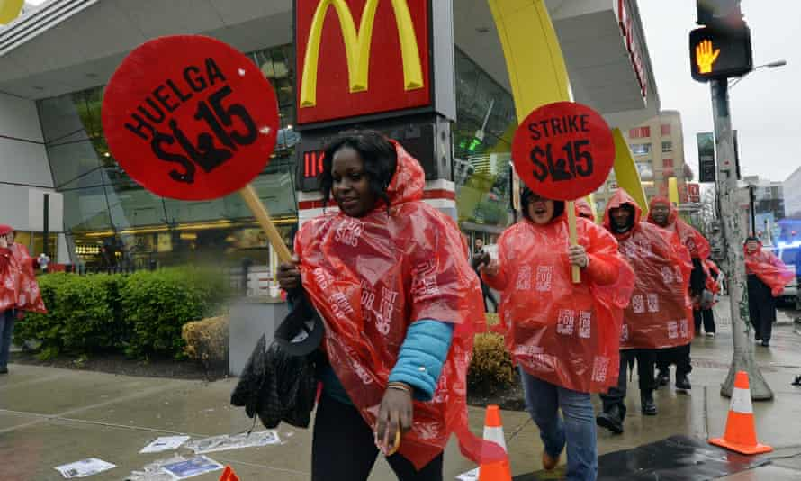 McDonald's protesters in Chicago last week.