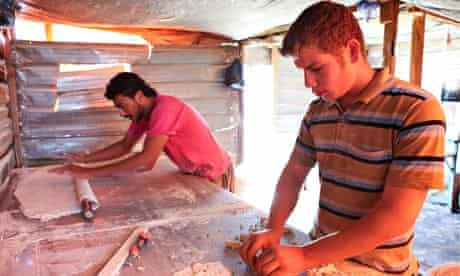 The baklava bakery at Zaatari.