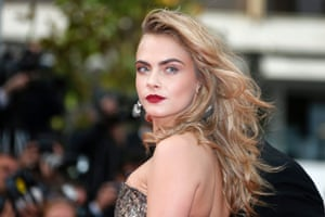 Cara Delevingne arrives for the screening of 'The Search'