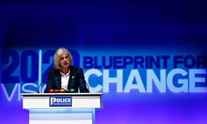 Theresa May gives her speech to the Police Federation conference