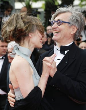 Director Wim Wenders and his wife Donata.