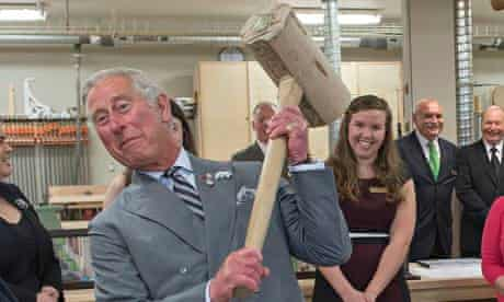 Prince Charles at Holland College in Charlottetown, Canada.