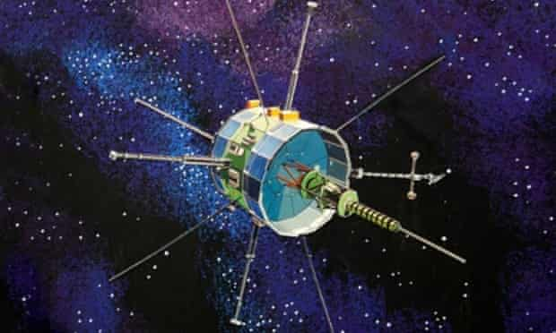 An illustration of Nasa's ISEE-3 probe, which will pass by Earth soon