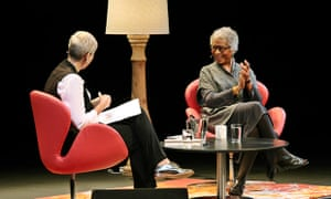 Alice Walker on stage at Sydney writers' festival