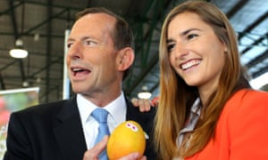 Frances Abbott joins her father Tony Abbott on the campaign trail in 2013.