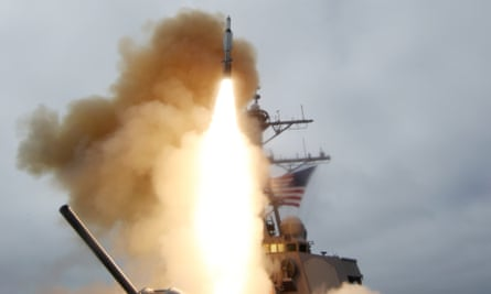 A previous test of the Aegis missile defence system, a version of which is to be stationed in Europe by the US and Nato