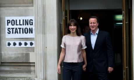 David Cameron and his wife Samantha.