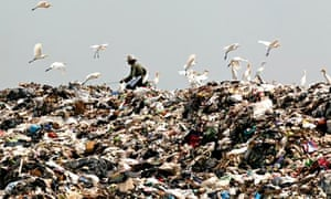 Scavengers at a garbage dump site in Nonthaburi