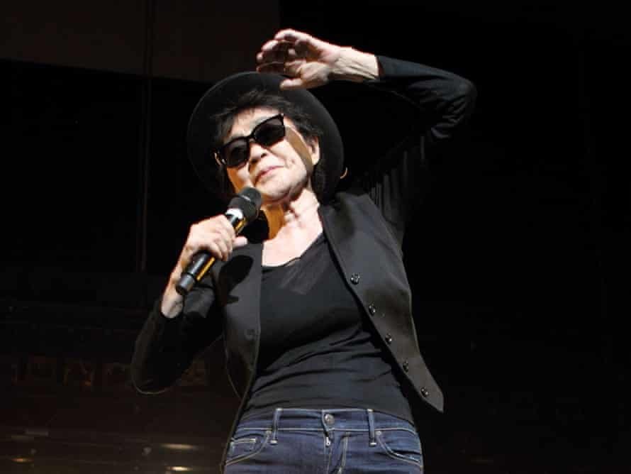 How high? Yoko Ono performs at the Meltdown Festival in 2013.