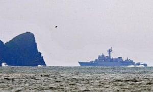 South Korean warship