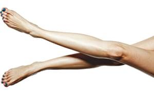 A pair of crossed legs