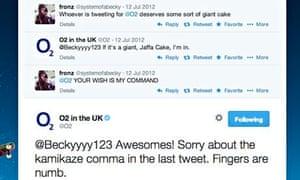 o2 tweeting social media conversation