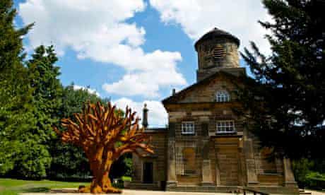 ai weiwei sculpture iron tree yorkshire sculpture park chapel