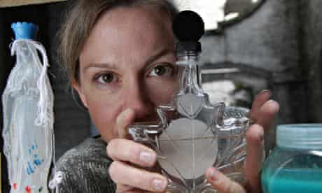 Amy Sharrocks with bottle