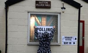 Sutton polling station
