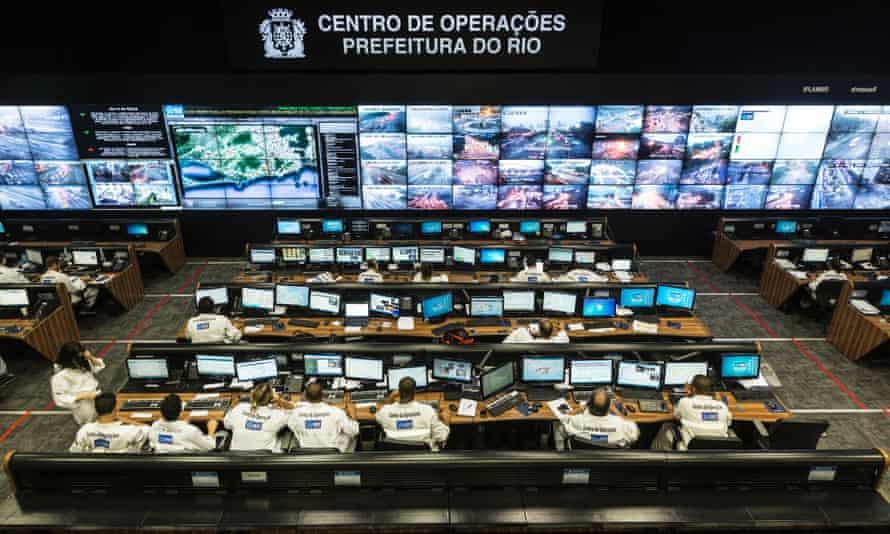 The Rio Operations Centre control room .