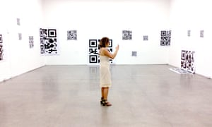 Now you see it … QR codes conjure animated gifs on a visitor's iPhone.