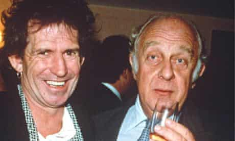 Loewenstein, right, with Keith Richards in 1991.