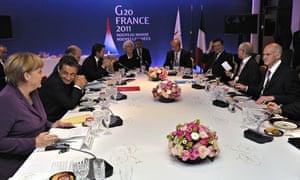 Nicolas Sarkozy, Angela Merkel and George Papandreou meet for crisis talks on Greek debt