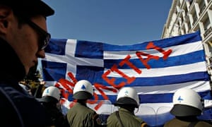 Greek anti-austerity protesters in Athens
