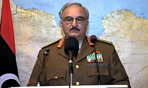 Khalifa Haftar on TV