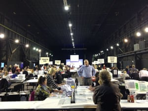 Local election count in Rotherham.