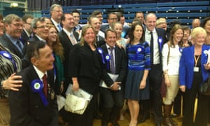Conservatives celebrate victory in Swindon.