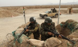 An Afghan army post in Herat province, where an Indian consulate has come under armed attack
