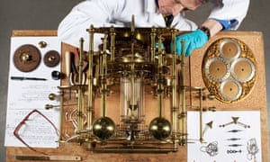 A hard problem. Jonathan Betts dismantle John Harrison's H1 chronometer at the Royal Observatory in Greenwich