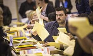 Croydon vote count
